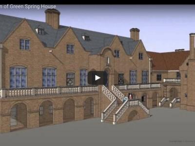Green Spring Plantation manor house animation