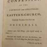 Ludwell translation Orthodox Confession Peter Moghila