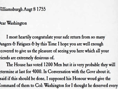 Philip Ludwell letter to George Washington commission Virginia militia 1755