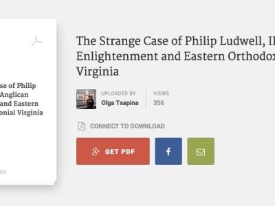 Philip Ludwell III American covert to Orthodox Christianity