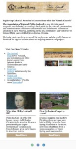 Ludwell.org email newsletter signup