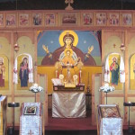 Iconostasis at St Aidan Orthodox Church, Manchester, England.