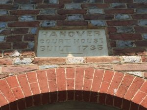 hanover courthouse virginia 1735