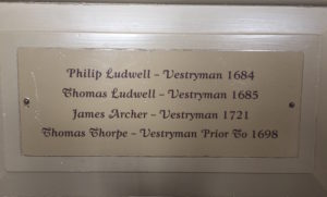 Ludwell, Bruton Parish Church, pew, Philip Ludwell, Thomas Ludwell
