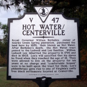 Hot Water / Centerville Marker
