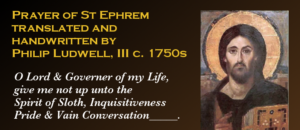 philip ludwell, prayer st ephrem, st ephrem translation, ludwell translation