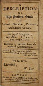 greek archbishop joseph georgirenes book samos mount athos