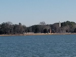 jamestown colony from james river ferry