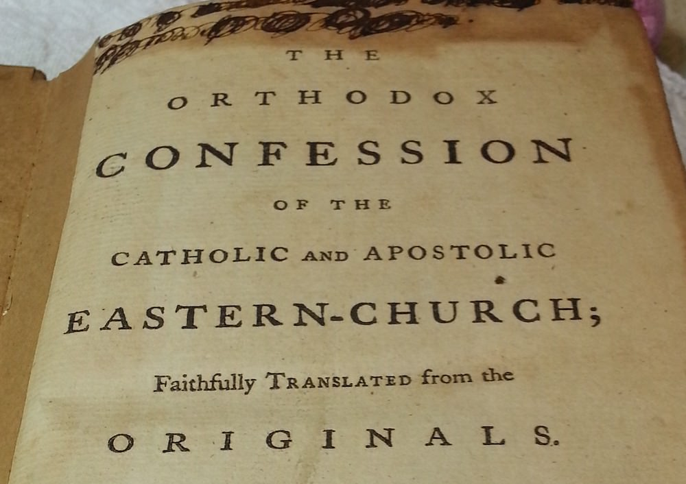 philip ludwell 1762 translation of Orthodox Confession book
