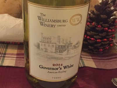 williamsburg winery governors white green spring plantation