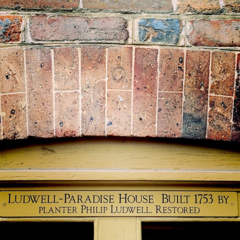 Ludwell-Paradise House, built by planter Philip Ludwell III c. 1755