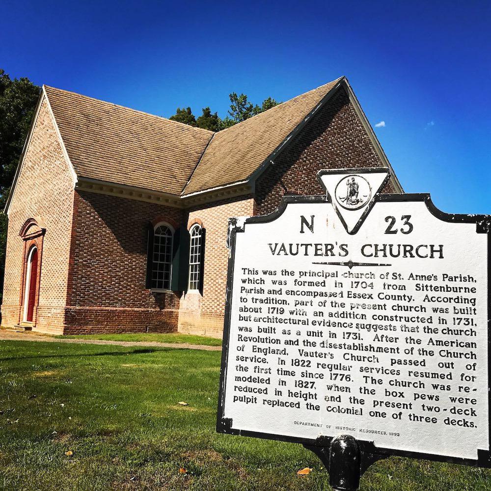 vauters church colonial virginia