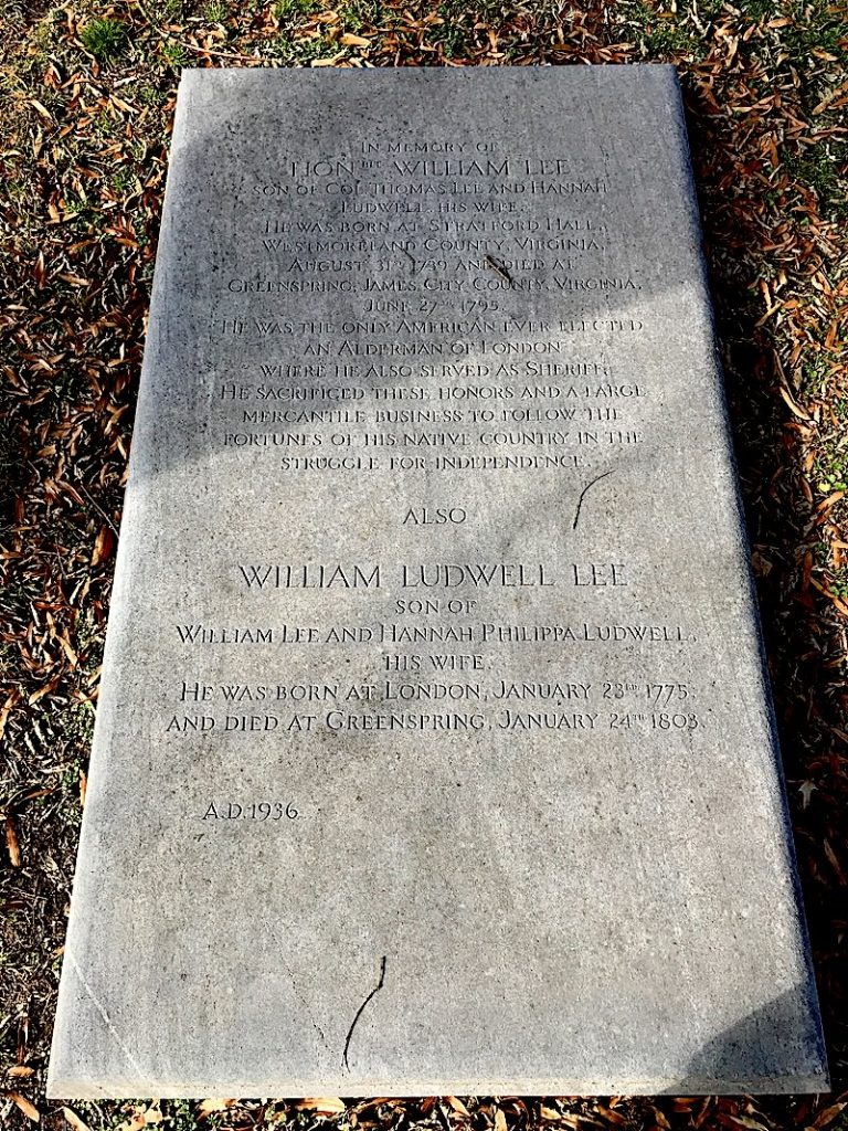 graves of william lee and william ludwell lee of virginia