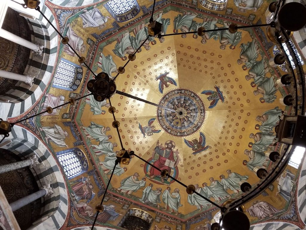 Aachen Cathedral dome interior