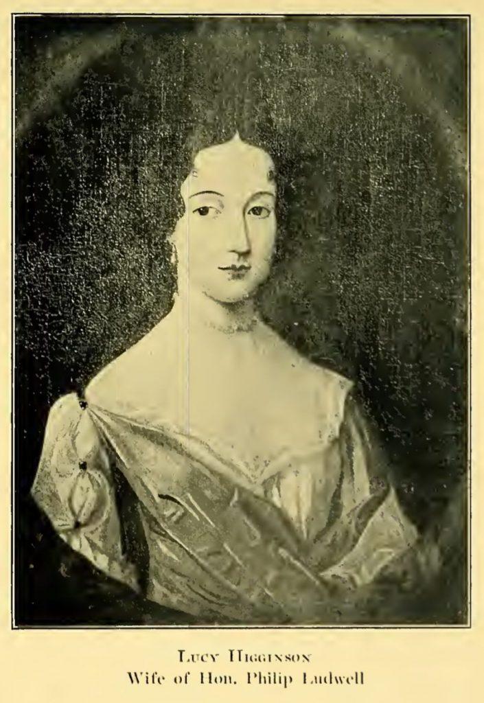 Portrait of Lucy Higginson - Lucy Higginson Burwell Bernard Ludwell
