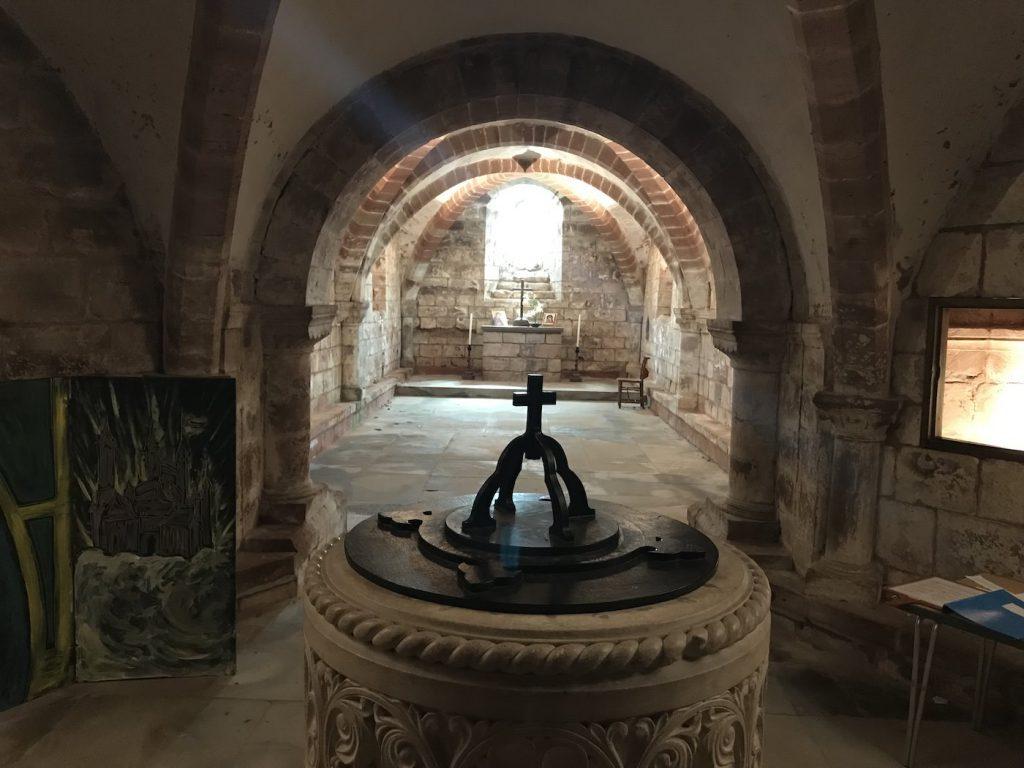 Norman era crypt, , st john baptist church, berkswell, england