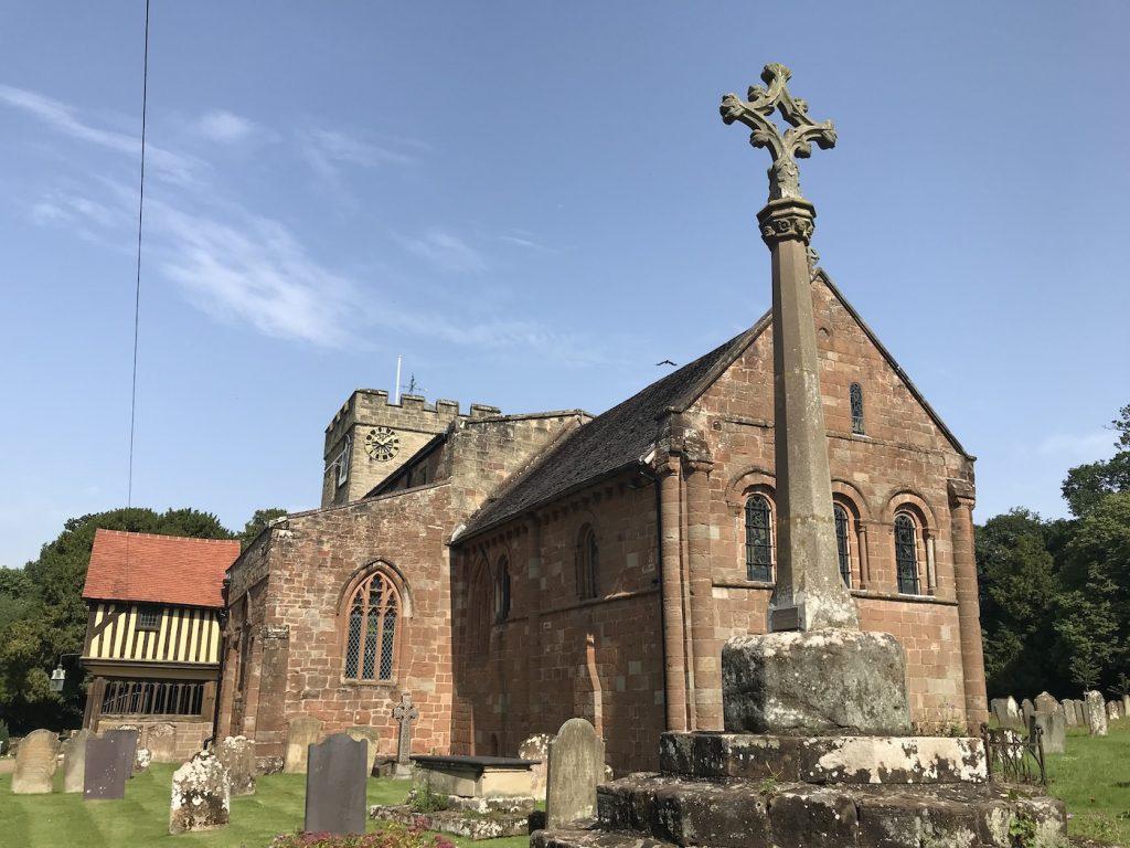 exterior view, st john baptist church, berkswell, england
