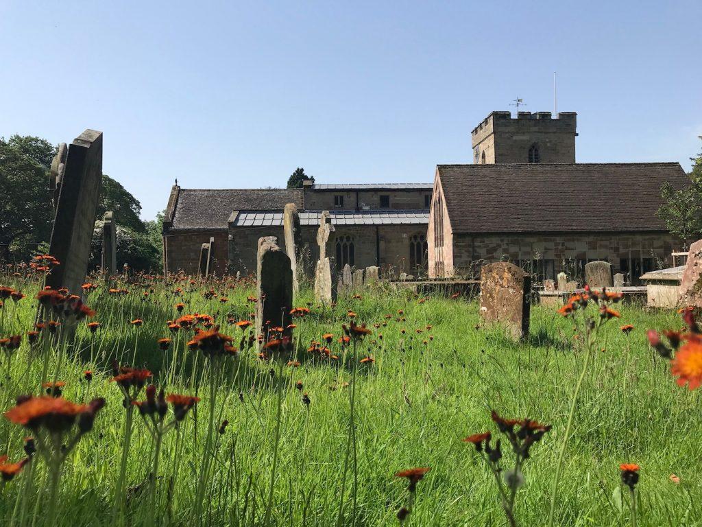 graveyard, st john baptist church, berkswell, england
